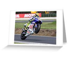 Valentino Rossi Mono 2008 Greeting Card