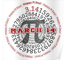 Happy Pi Day!  March 14 Poster
