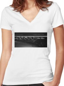 Vented; Ford Deluxe Women's Fitted V-Neck T-Shirt
