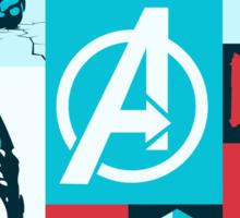 avengers minimalist Sticker