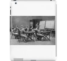 United States Signal Corps CLASS IN TELEPHONY - NLISTED MEN, U. S. ARMY The province of the telephone in modern warfare is constantly broadening 1917 iPad Case/Skin