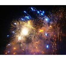 New Years Eve Fireworks ! Photographic Print