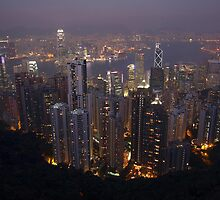 Hong Kong Lit Up by Bobby McLeod