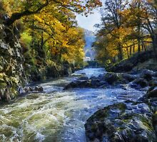 Autumn River Valley by Ian Mitchell