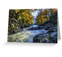 Autumn River Valley Greeting Card