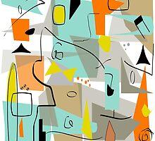 Mid-Century Modern Abstract Art by Gail Gabel, LLC