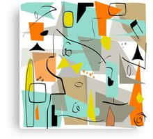Mid-Century Modern Abstract Art Canvas Print