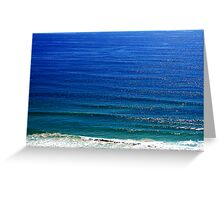 Ocean colours Greeting Card