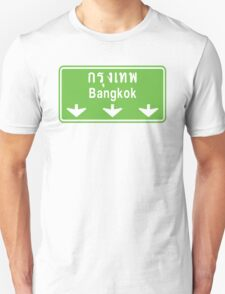 Bangkok Ahead ~ Watch Out! Thailand Traffic Sign T-Shirt