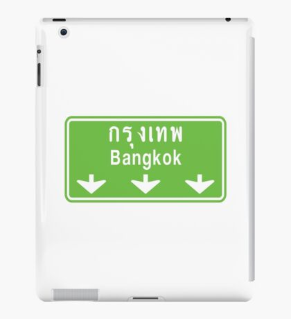 Bangkok Ahead ~ Watch Out! Thailand Traffic Sign iPad Case/Skin