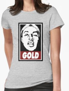 Issa Gold (the underachievers) Womens Fitted T-Shirt