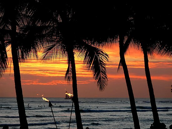 Waikiki Sunset by Stanton Hooley