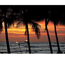 Waikiki Sunset Photographic Print