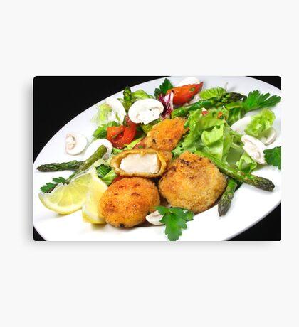 Scallops & Salad Canvas Print