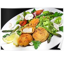 Scallops & Salad Poster