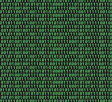 Binary code on old fashioned computer screen wallpaper by funkyworm