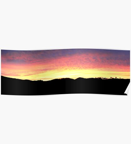Golden Sunset Poster