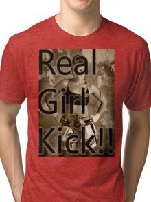 muay thai girl quotes Tri-blend T-Shirt