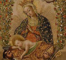 Unknown - The Virgin Adoring the Christ Child with Two Saints (La Virgin adorando al Nino Jesus con dos santos) by Adam Asar