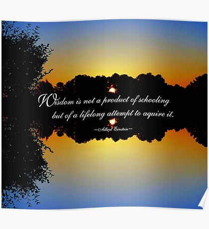 Wisdom - Albert Einstein Poster
