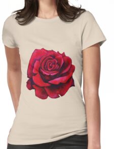 Blue moon rose Womens Fitted T-Shirt