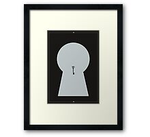 Keyhole secret Framed Print