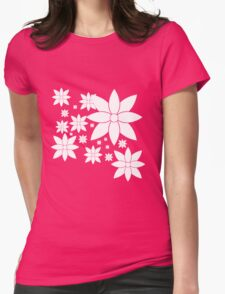 Snow Flow - Turquoise Drift Womens Fitted T-Shirt