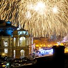 Fireworks over the Odessa Opera House by Bob Burnham