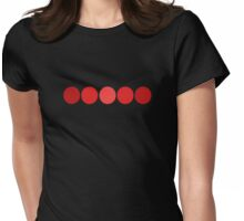 Five Red  Dots  Womens Fitted T-Shirt