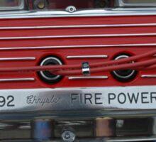 Vehicle Engine. Sticker