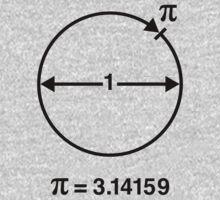 Pi / ∏ / π / Mathematics / Geometry (UK & US / Black) Kids Clothes