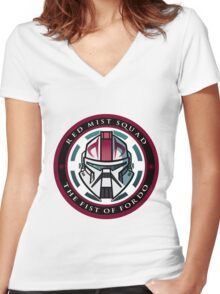 Red Mist Women's Fitted V-Neck T-Shirt