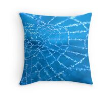 Diamond Blue Throw Pillow