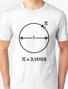 Pi / ∏ / π / Mathematics / Geometry (INT / Black) T-Shirt