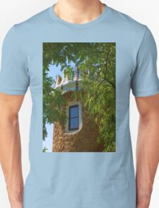 Fairy Tale Building Through the Trees - Impressions Of Barcelona T-Shirt