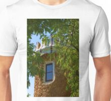 Fairy Tale Building Through the Trees - Impressions Of Barcelona Unisex T-Shirt