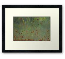 Rusty Bubbles Framed Print