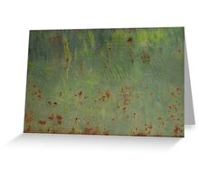 Rusty Bubbles Greeting Card