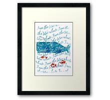 I am the Blue Whale Framed Print