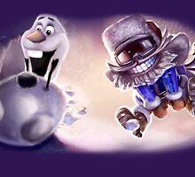 Olaf & Ziggs  by ailbhe
