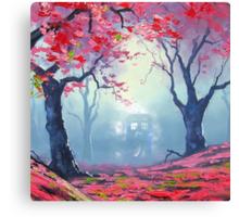 Tardis Cloud Art Painting Canvas Print
