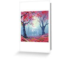 Tardis Cloud Art Painting Greeting Card