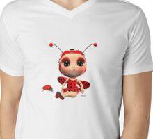 Ladybug Mens V-Neck T-Shirt