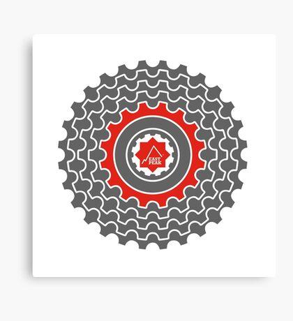 Mountain Bike T-Shirt - Blood Sweat & Gears - East Peak Apparel Canvas Print