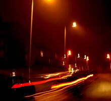 Night After Sidewalk by Amanda-Jayne Perry