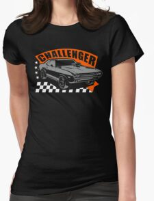 Dodge Challenger | Grey - Orange - White Womens Fitted T-Shirt