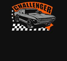 Dodge Challenger | Grey - Orange - White Unisex T-Shirt