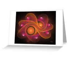 'Light Flame Abstract 171BLK' Greeting Card