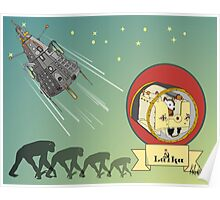 First Living Thing in Space Poster
