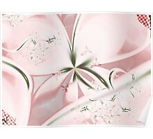 Checkered Flowers Poster